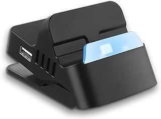 Switch ドック スタンド スイッチ プレイスタンド 充電スタンド ミニ小型 USBポート 熱対策 最新システム対応 LANアダプター/ジョイコン/プロコン接続でき 日本語説明書付き【HDMI変換/TVモード/テーブルモード】