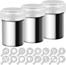 3 Pack Stainless Steel Powder Shaker, Coffee Cocoa Dredges with Fine-Mesh Lid, AIFUDA Power Can For Baking Cooking Home Re...