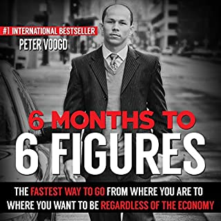 6 Months to 6 Figures audiobook cover art