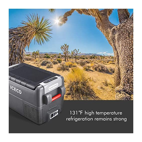 ICECO JP30 Portable Refrigerator, 12V Car Fridge Freezer, 31 Liters Compact Refrigerator with Secop Compressor, for Car… 7 ※ 【FREE PARTS】- Insulated Protective Cover & 12 Feet-Long Extend DC Power Cable. ※ 【MAX & ECO MODE】- This function allows the compressor speed to be slowed down to increase operational efficiencies(ECO) or increase the compressor speed to provide ''quick'' cooldown times(MAX). ※ 【NO ICE NEEDED】- Adjustable Temperature From -7℉~50℉(-22℃~+10℃). How Danfoss compressor works: for the purpose of saving energy, the compressor will stop operating when the freezer up to the set temperature and the compressor will restart to operating when the temperature in the box has risen 6℉-9℉.