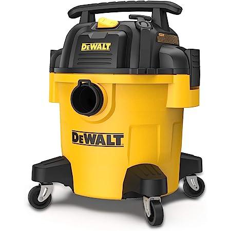DEWALT DXV05P 5Gallon Poly Wet/Dry, 4 Peak HP Shop Vacuums, 5 Gallon, Yellow+Black