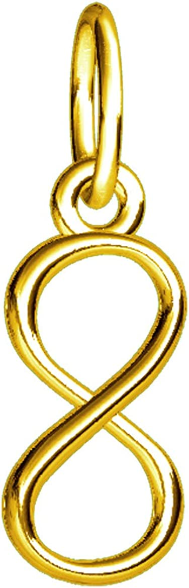Financial sales sale Mini Infinity Symbol Charm 4mm Yellow 18K in Rapid rise Gold