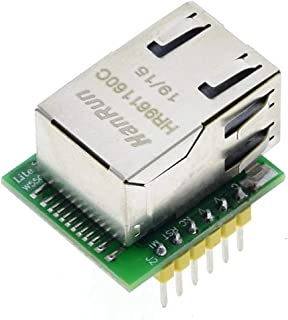 SUBALIGU USR-ES1 W5500 Chip New SPI to LAN Ethernet Converter TCP/IP Module Compatible with Arduino