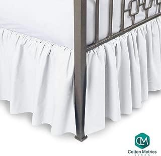 Cotton Metrics Linen Present 800TC Hotel Quality 100% Egyptian Cotton Dust Ruffle Bed Skirt 18