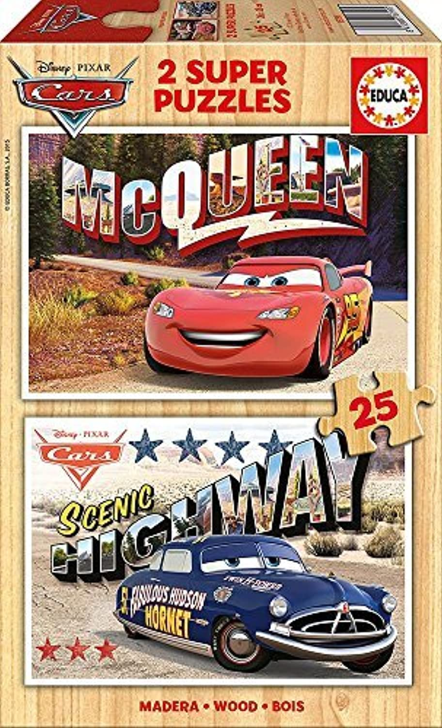 Educa 16799.0-Cars, Games and Puzzles 2x25pieces by Educa