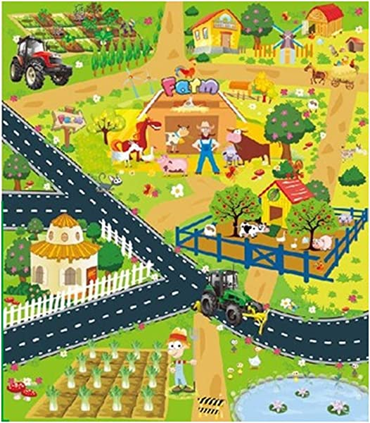 Kids Activity Creeping Play Mat Children Car Game Carpet Infant Rug Mats With Road Traffic Crawling Mat 70x80cm