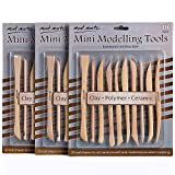 Mont Marte Polymer Clay Tools Pottery Tools Clay Sculpting Tools for Sculpting 10 pces, 3 ...