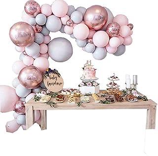 169pcs Pink Macaron Balloons Arch Garland Kit Rose Gold Confetti Latex Balloon Baby Shower Wedding Birthday Party Decor