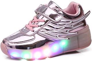9ca7e3c472f Automática Ruedas Ajustables LED Zapatillas con Luces Ruedas Color Deporte  Zapatos de Skate