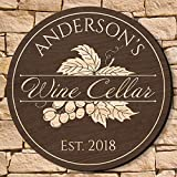 HomeWetBar Rhone Valley Personalized Wine Cellar Sign (Signature Series - Custom Product)