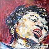 Posterlounge Holzbild 100 x 100 cm: Ella Fitzgerald von Christel Roelandt -