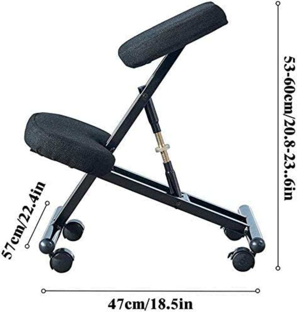 Fauteuil Tabouret réglable for la maison et le bureau - améliorer votre posture avec un siège Incliné - épais coussins confortables Chaise tabouret (Color : Blue) Red