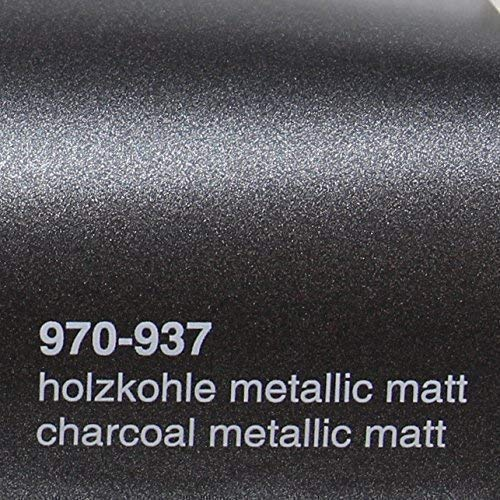 20,72€/m² Oracal 970RA 937 Holzkohle Metallic Matt gegossene Profi Autofolie 152cm breit BLASENFREI mit Luftkanäle