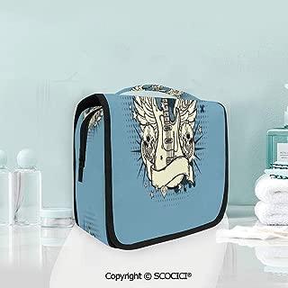 SCOCICI Travel Hanging Wash Bag Kit Rock n Roll Composition Crown Wings Sku