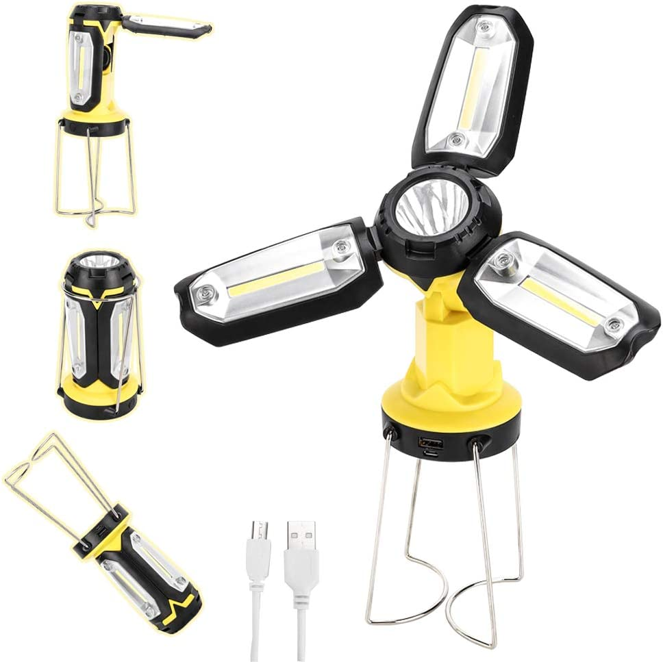 HEDAQI Sale LED Work Light Max 51% OFF Rechargeable Portable Camping Lantern 2200
