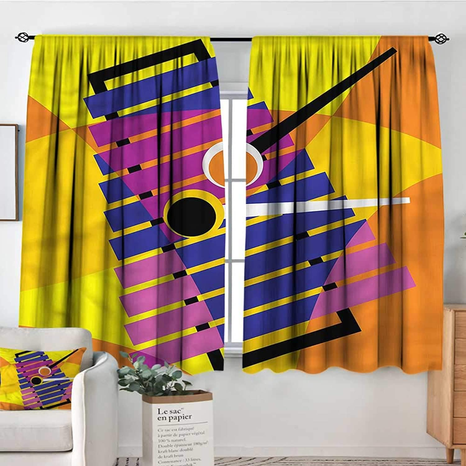 Familytaste Xylophone,Nursery Baby Care Curtains Contemporary Design Party 52 x63  Indo Treatment Panes