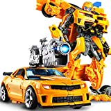 Transformers Robot Peut Changer De Forme Modèle De Voiture Figurines d'action Jouets Anime Optimus Prime Bumblebee,Yellow