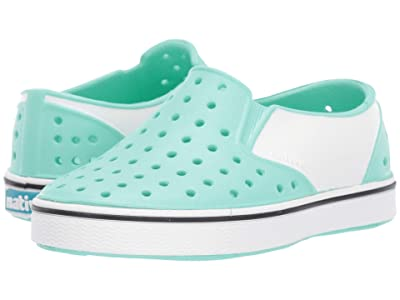 Native Kids Shoes Miles Block (Toddler/Little Kid) (Glass Green/Shell White/Shell Block) Kids Shoes