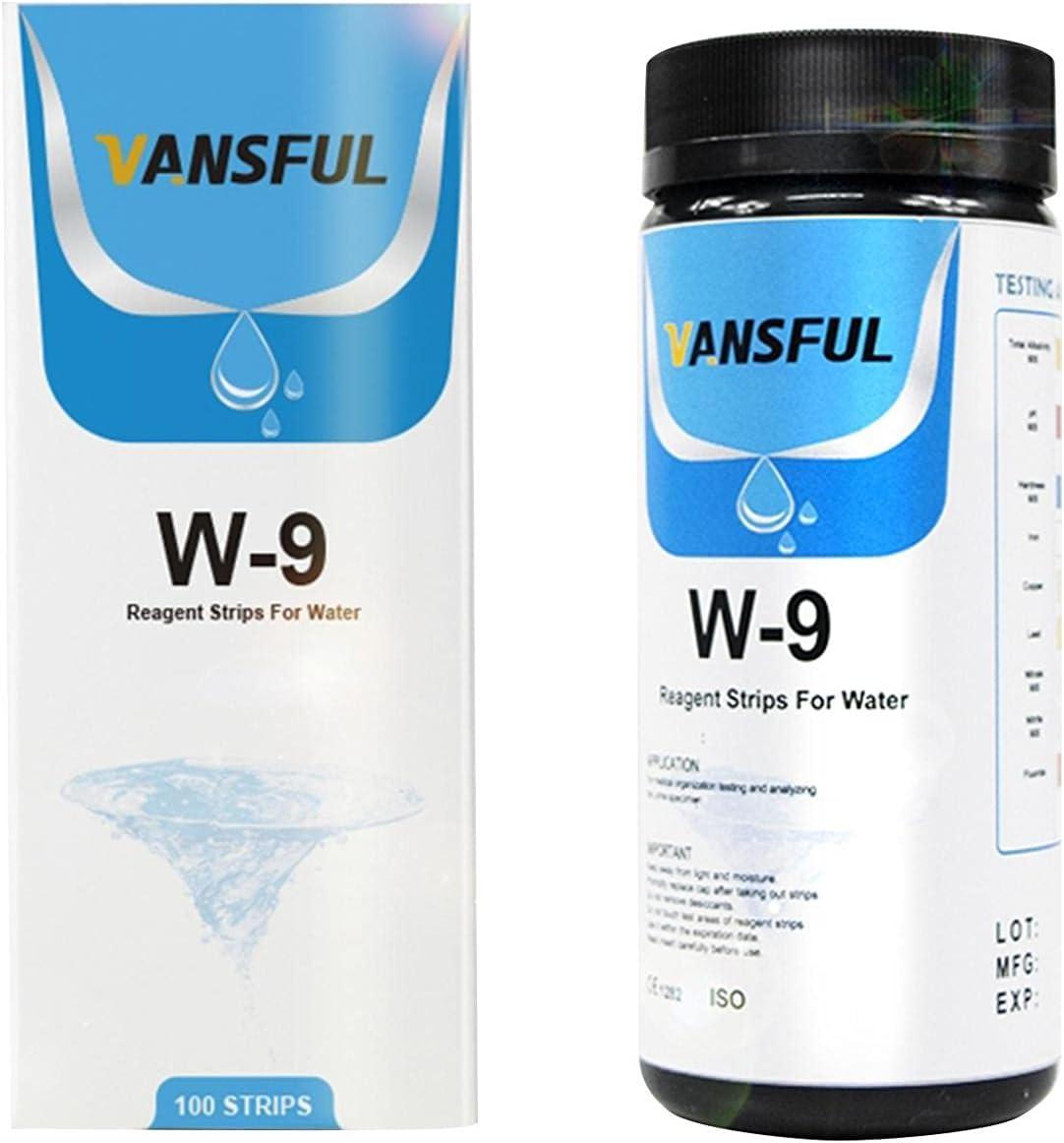 Nanyaciv Cheap mail order sales Water Test Strips Translated 100 High 9-in-1 Sensitivity Pcs