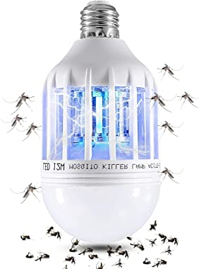 Wanqueen 2 Pack Bug Zapper Electronic Mosquito Fly Killer Lamp, Fits 110V E27 Light Bulb Socket Suit for Indoor Outdoor