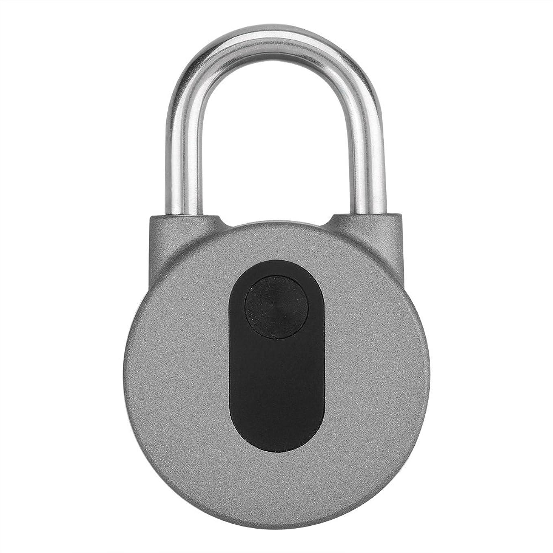 スチュアート島貸す喜んでスマート南京錠 スマートキーレスロック スマートロック タッチロック防水 APPボタン/指紋/パスワードで アンロック 遠隔操作 複数人共有設定 Android, iOSに対応