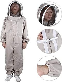 Jimfoty Beekeeping Suit, Hooded Beekeeper Suit One-Piece Beekeeping Protective Clothes Anti Bee Equipment with Veil, Beekeeping Supplies