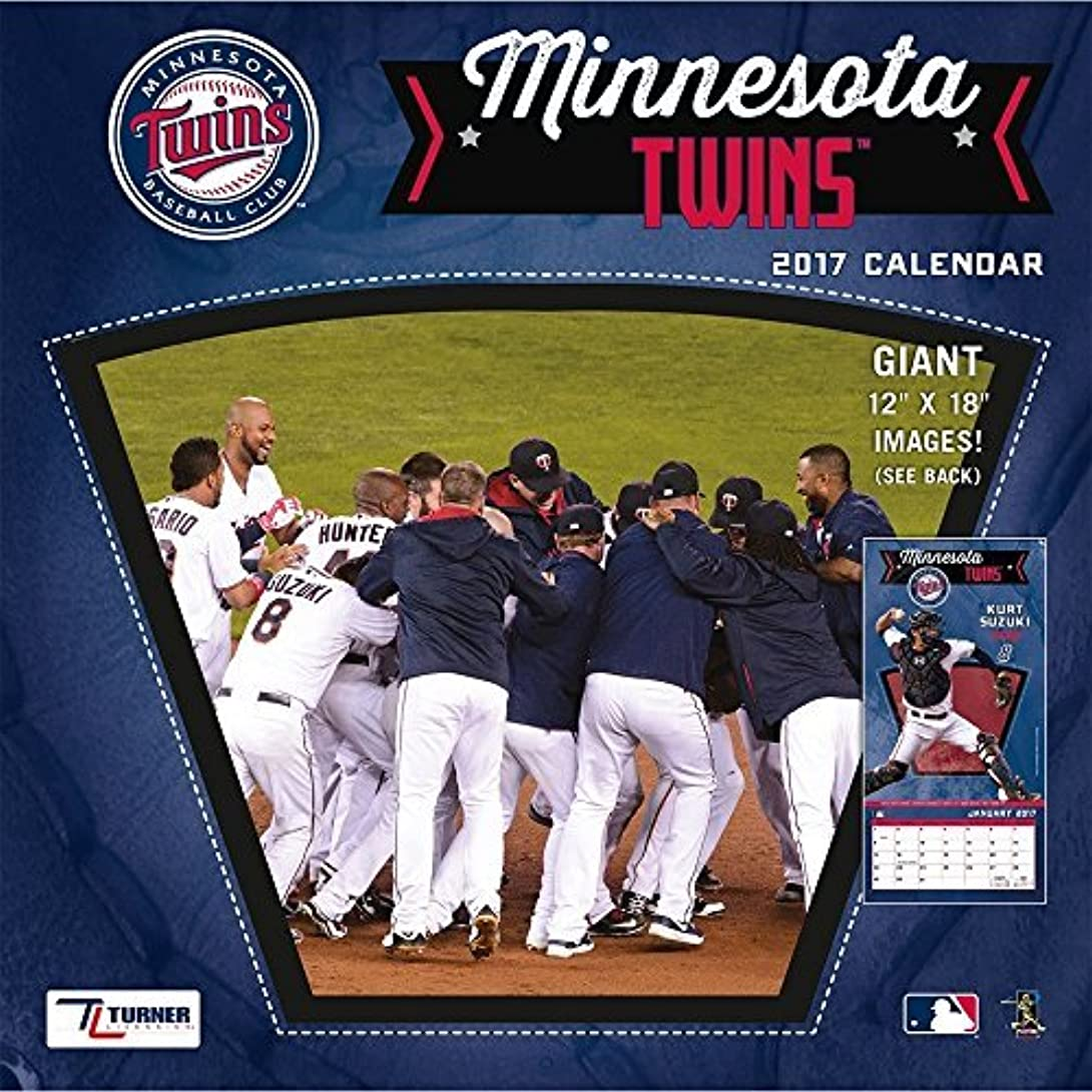 ご予約ファイターハイライトTurner Licensing Sport 2017 Minnesota Twins Team Wall Calendar 12X12 (17998011855) [並行輸入品]