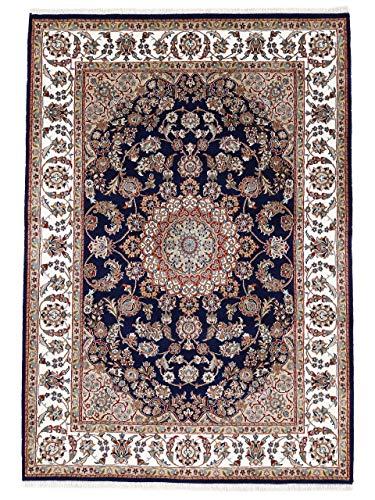 carpetfine Nain Teppich Blau 300x400 cm   Moderner Teppich für Wohn- und Schlafzimmer