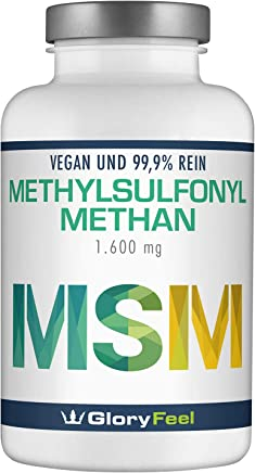 MSM Kapseln Vergleichssieger 2019* - 365 vegane Kapseln (6 Monate) - 1600mg MSM (Methylsulfonylmethan) Pulver je Tagesdosis - Laborgeprüft Ohne Zusätze hergestellt in Deutschland