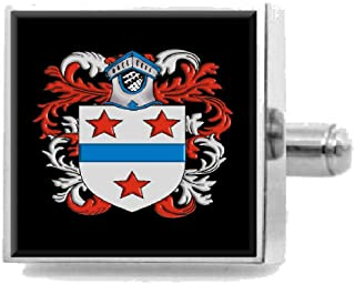 Select Gifts Poore England Family Crest Surname Coat Of Arms Tie Clip Engraved In Pouch