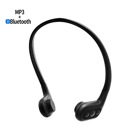 a4985bad451 Tayogo Waterproof Force Conduction IPX8 MP3 bone conduction headphones  waterproof FM radio 8GB Bluetooth 4.2 Pedometer