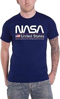 Nasa T Shirt United States Official Mens Navy S