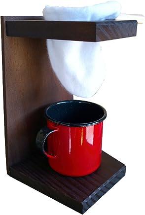 Mini Coador de Café ou Mariquinha Mancebo em Mandeira com Caneca Esmaltada Nacional - Poma Shop