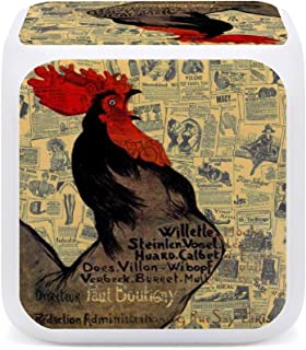 farm animal crowing Rooster Night light wall plug in house warming morning alarm beautiful gift
