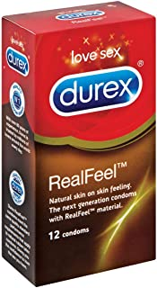 Durex Real Feel Love Sex Extended Pleasure Lubricated Condoms - 12 Counts