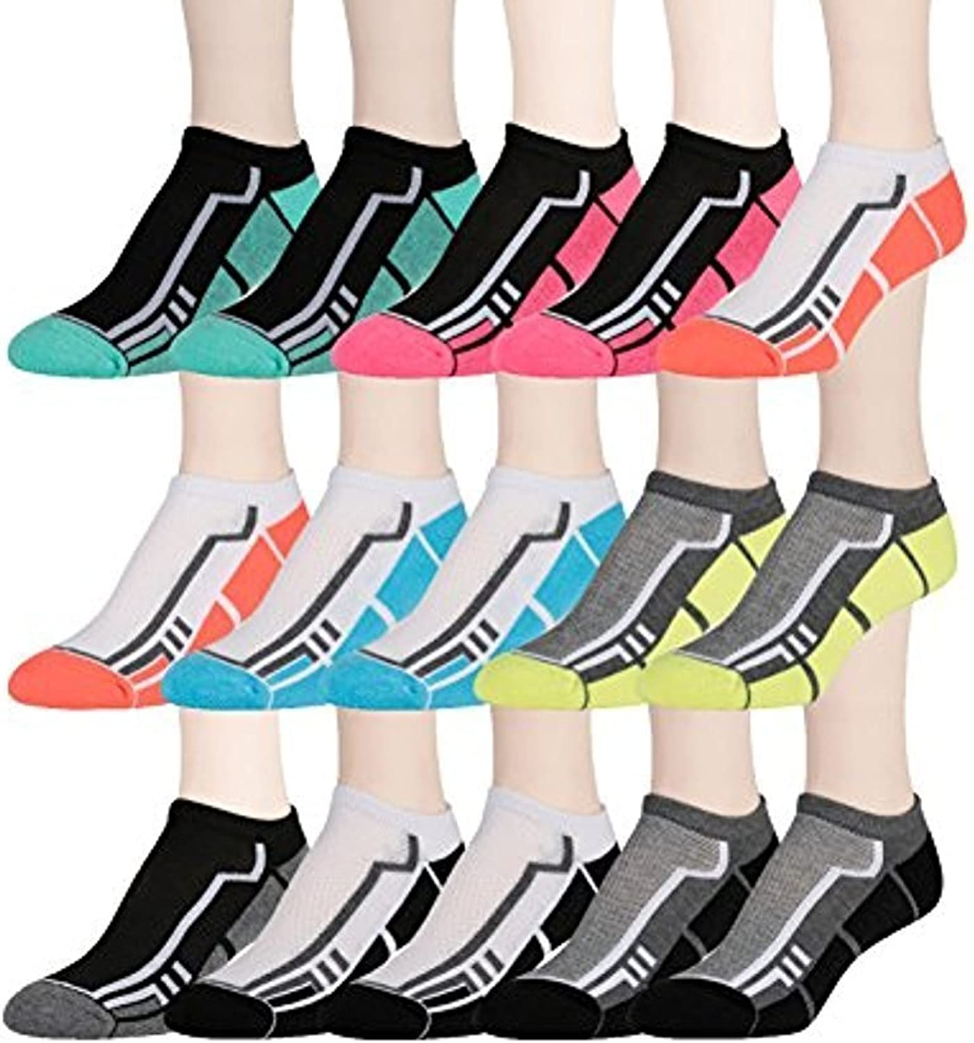 15 Pairs of WSD Womens High Performance Ankle Socks Low Cut Cushioned