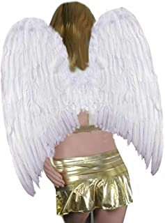 Extra Large FeatherHalloween Fairy Angel Wings 3 Color Black, White or Red