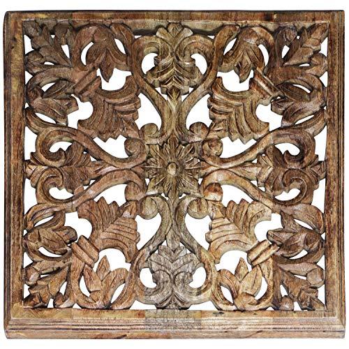 Orientalische Holz Ornament Wanddeko Ayub 60cm gross | Orientalisches Wandbild Wanpannel in Natur...