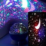 Proyector Estrellas Infantil, 360° Rotación Bebes Estrellas Lampara de Techo, Usar para Iluminacion Habitacion Infantil