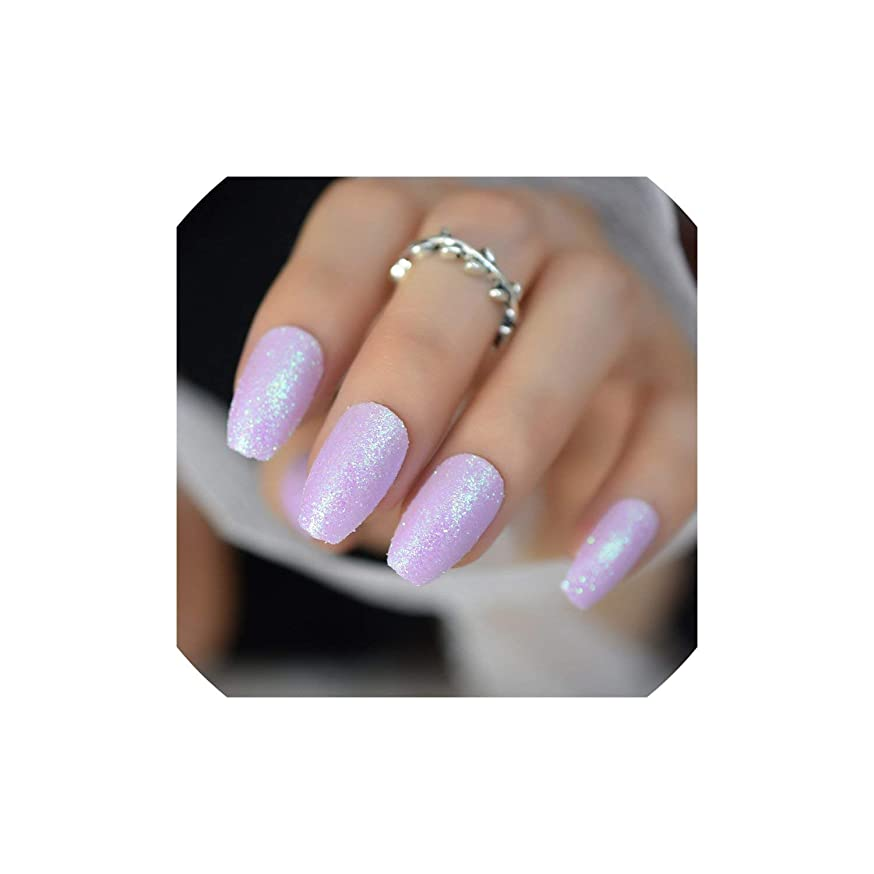 Rose Gold 24 Full Cover False Nails Gorgeous Glitter Nail Tips 12 Sizes Full Coverage Diy Tips With Adhesive,Z880