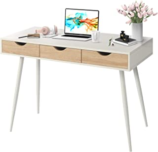 Writing Computer Desk,Modern Laptop PC Workstation with 2...