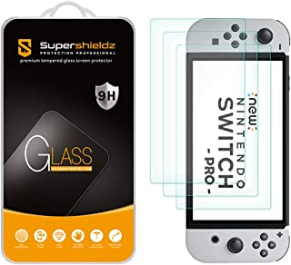 (3 Pack) Supershieldz Designed for Nintendo Switch OLED (2021) Tempered Glass Screen Protector, Anti Scratch, Bubble Free