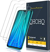[3-Pack] QHOHQ Screen Protector for Xiaomi Redmi Note 8 Pro,[9H Hardness] HD Transparent Scratch-Resistant [Bubble Free] Tempered Glass