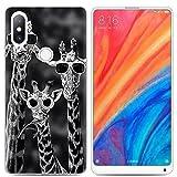 Yrlehoo Für Xiaomi Mi Mix 2S, Premium softe Silikon Schutzhülle für Xiaomi Mi Mix 2S Tasche Hülle Cover Hülle Etui Schutz Protect, Giraffe (Gilt nur für Xiaomi Mi Mix 2S)