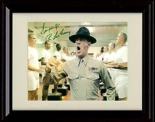Framed R L Ermey Autograph Replica Print - Full Metal Jacket - Gunnery Sergeant Hartman