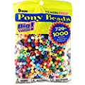 Pony Beads Multi Color 9mm 1000 Pcs in Bag (3 Pack)