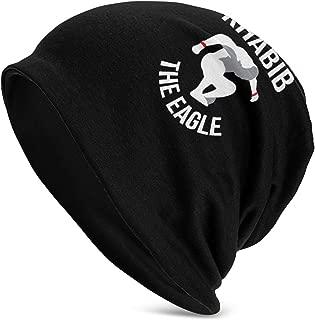 Belindaa Khabib-NurmagomedovThe-Eagle Adult Beanie Hat Warm Slouchy Knit Fashion Cap Headwear for Man Women Black