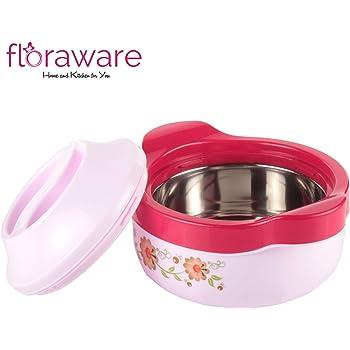 Floraware Steel Casseroles, Junior Gift Set, 1 Piece, 1500ML, Pink