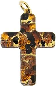GlassOfVeniceColgante de cristal de Murano, diseño de cruz veneciana, color dorado
