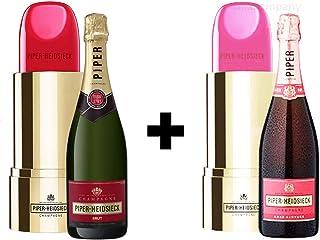 Piper Heidsieck Brut Champagner 0,75l 12% Vol Lipstick Edition  Piper Heidsieck Sauvage Brut Champagner Rosé 0,75l 750ml 12% Vol Lipstick Edition - Enthält Sulfite